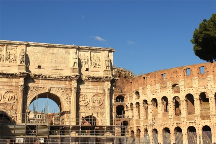 I thought it was neat to see the Arch of Constantine and  the Colosseum in the same frame.