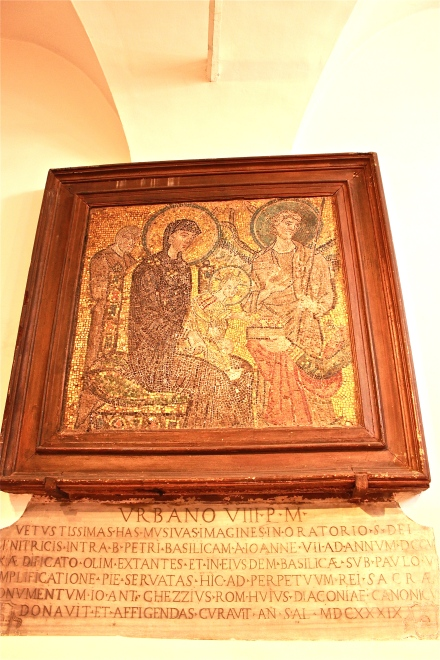 This beauty is within the church's souvenir shop. From what I can recall, it has been preserved in the church from the very beginning.