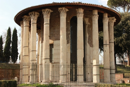 The Temple of Hercules Victor. Erected sometime in the 2nd century BC. It also has history of being a church as well.