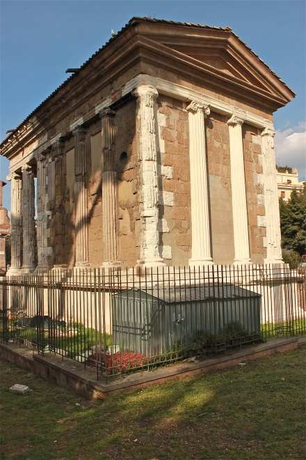 This is the rear view of the Temple Portunus. It was erected between 100-80 BC. It too eventually became a church.
