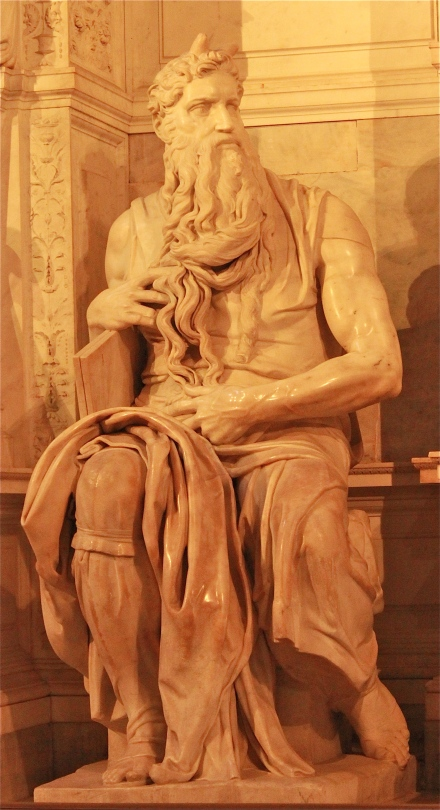 Michelangelo's Moses statue. It really is something to behold. Even my husband was in awe of it.