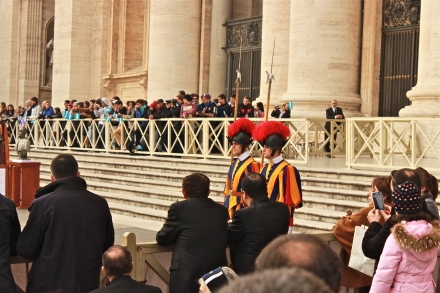 When you see the Swiss guards, that means something is about to happen.