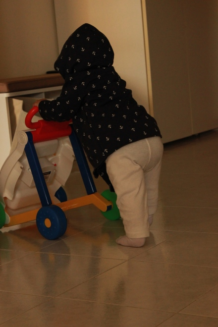 This is her walker, she hasn't walked without it yet because she thinks she still needs it. She doesn't.