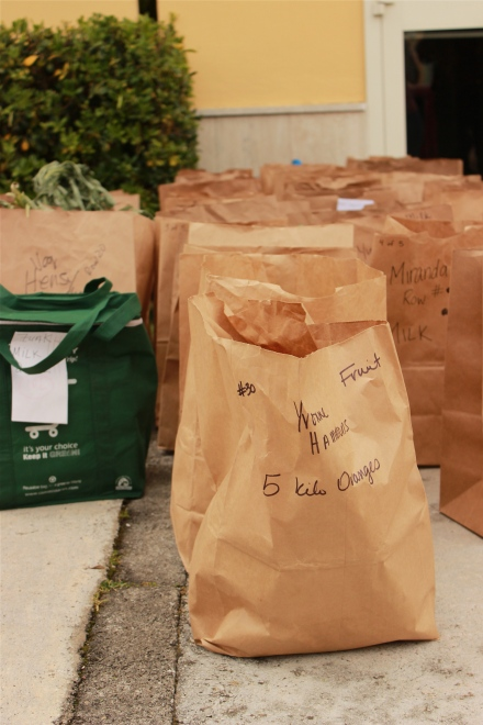 All of those bags are filled with organic deliciousness!