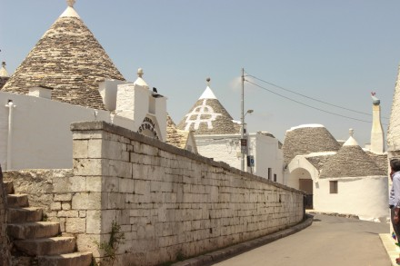 When a Trullo has a symbol on the roof, it means it is one of the older original Trulli of the town.