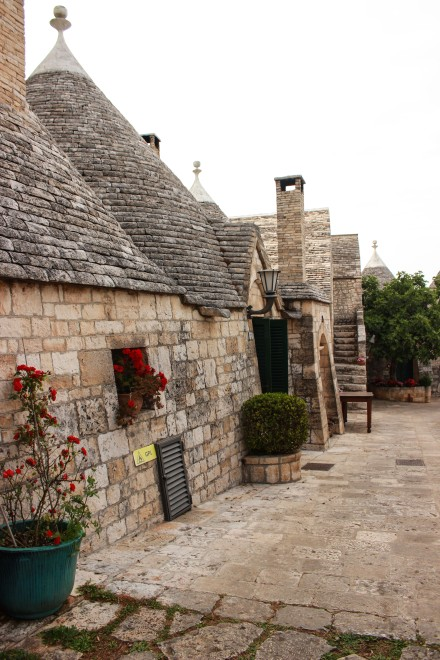 The hotel grounds, that is our Trullo on the left.